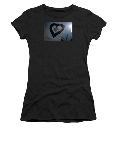 Heart With A Heart II Women's T-Shirt (Athletic Fit)