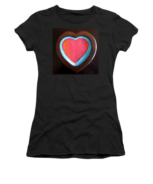 Hearts Afire Women's T-Shirt (Athletic Fit)
