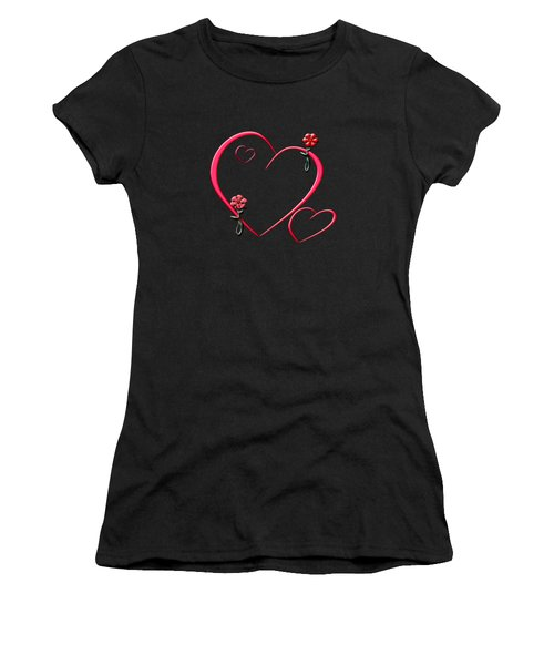 Hearts And Flowers Women's T-Shirt (Athletic Fit)