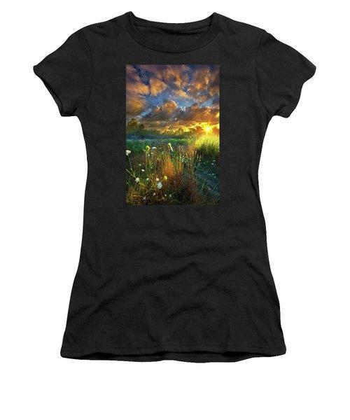 Heaven Knows Women's T-Shirt (Junior Cut) by Phil Koch