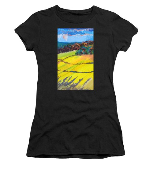 Heavenly Haldon Hills - Colorful Trees Landscape Painting Women's T-Shirt