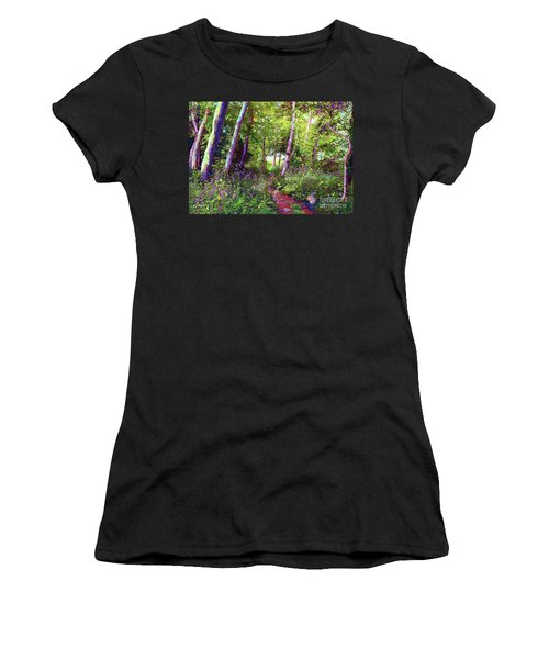 Heavenly Walk Among Birch And Aspen Women's T-Shirt (Athletic Fit)