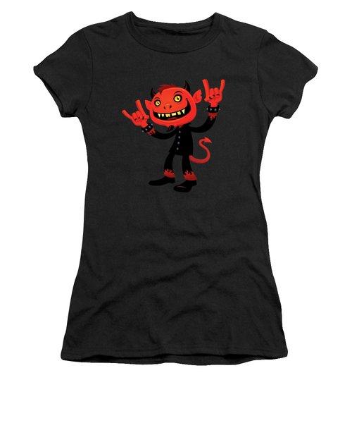 Heavy Metal Devil Women's T-Shirt (Athletic Fit)