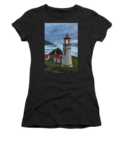 Heceta Head Lighthouse Evening Women's T-Shirt