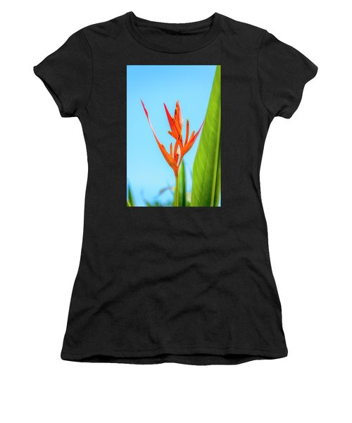 Heliconia Flower Women's T-Shirt (Athletic Fit)