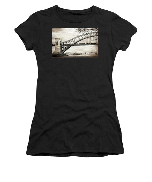Hellgate Bridge In Sepia Women's T-Shirt