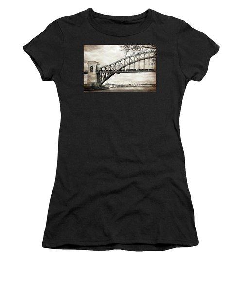 Hellgate Bridge In Sepia Women's T-Shirt