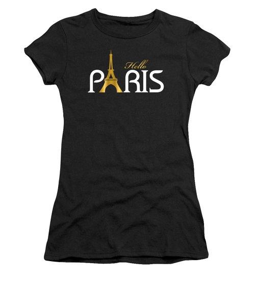 Hello Paris Women's T-Shirt (Junior Cut) by Carlos Simon