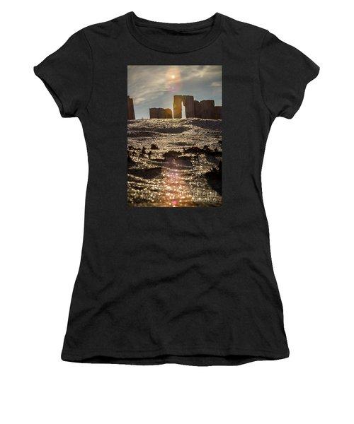 Helvick Beach Wooden Barrier 2 Women's T-Shirt
