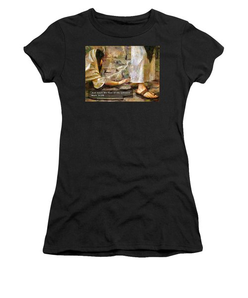 Hem Of His Garment And Text Women's T-Shirt (Athletic Fit)