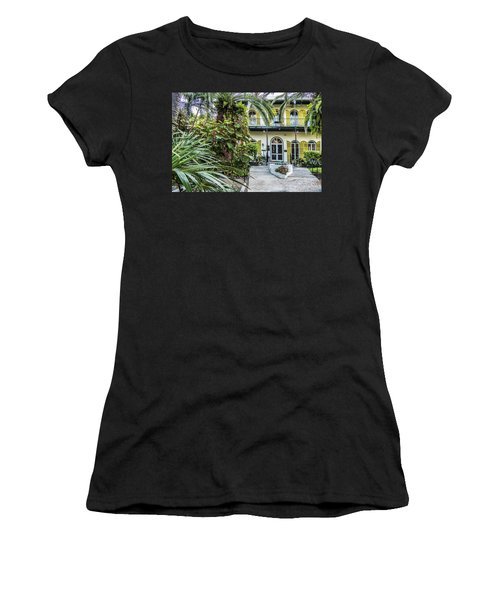 Women's T-Shirt (Athletic Fit) featuring the photograph Hemingway House - Key West by Bob Slitzan
