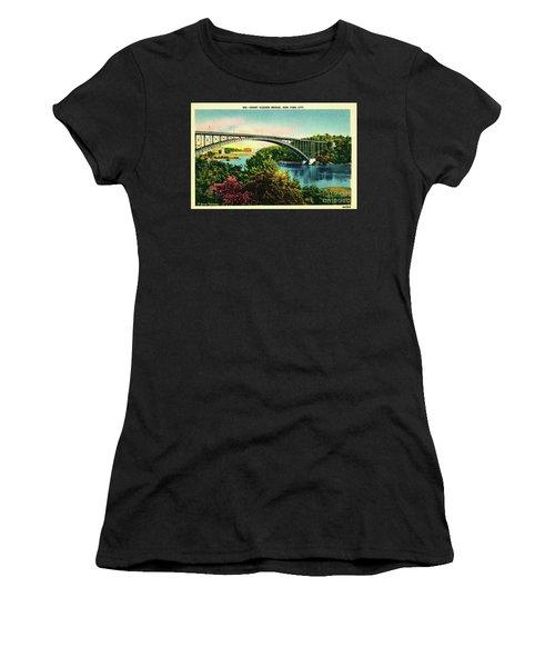 Henry Hudson Bridge Postcard Women's T-Shirt