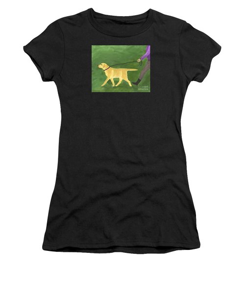 Her Dog Took Her Everywhere Women's T-Shirt (Athletic Fit)