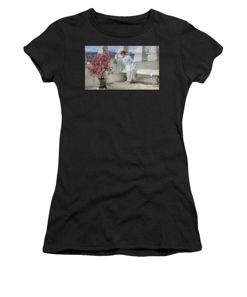 Her Eyes Are With Her Thoughts And They Are Far Away Women's T-Shirt