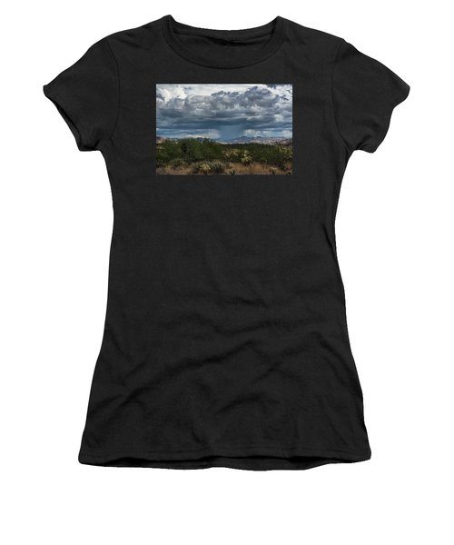 Women's T-Shirt (Athletic Fit) featuring the photograph Here Comes The Rain Again by Saija Lehtonen
