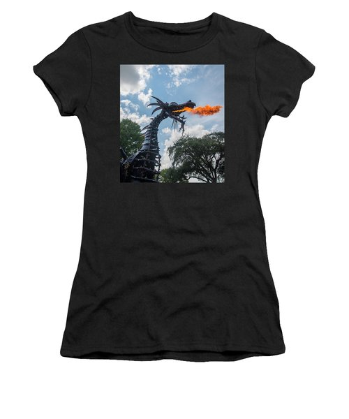 Here There Be Dragons Women's T-Shirt (Athletic Fit)