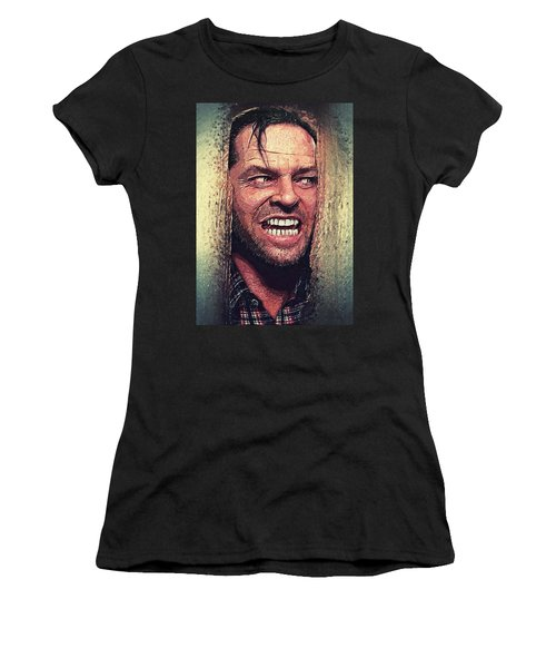 Here's Johnny - The Shining  Women's T-Shirt (Athletic Fit)