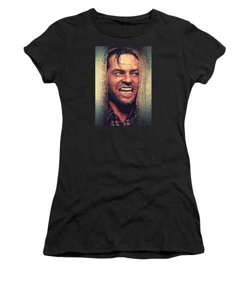 Here's Johnny - The Shining  Women's T-Shirt (Junior Cut) by Taylan Apukovska