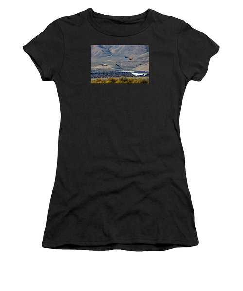 Here's Looking Back At You.  T6 Race. Women's T-Shirt (Athletic Fit)