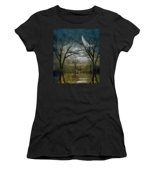Heron By Moon Glow  Women's T-Shirt