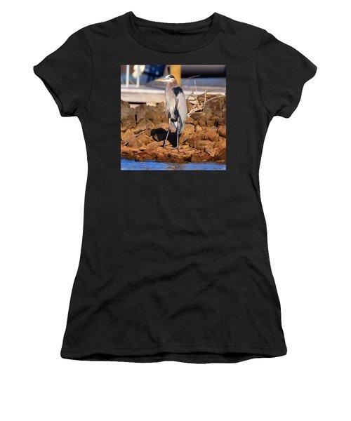 Heron On The Rocks Women's T-Shirt