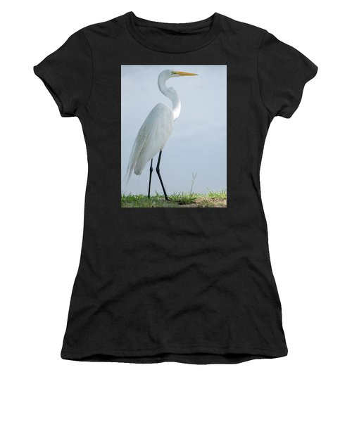 Heron  Women's T-Shirt (Athletic Fit)