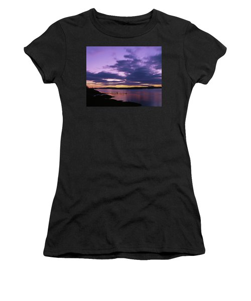 Herring Weir, Sunset Women's T-Shirt (Athletic Fit)