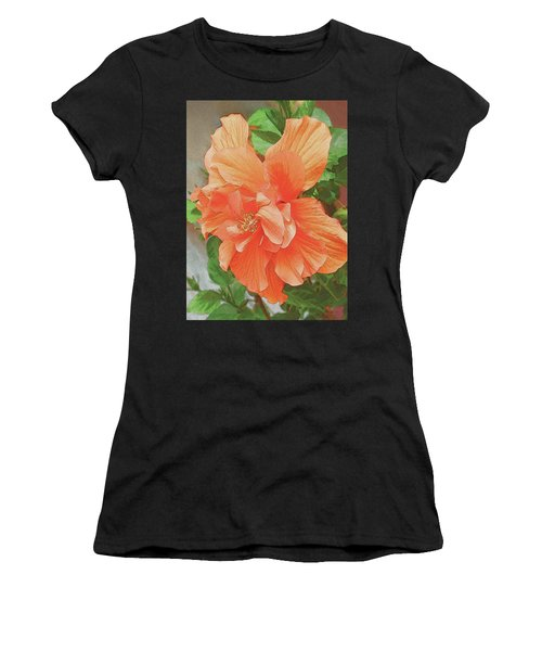 Hibiscus Flower Women's T-Shirt (Athletic Fit)