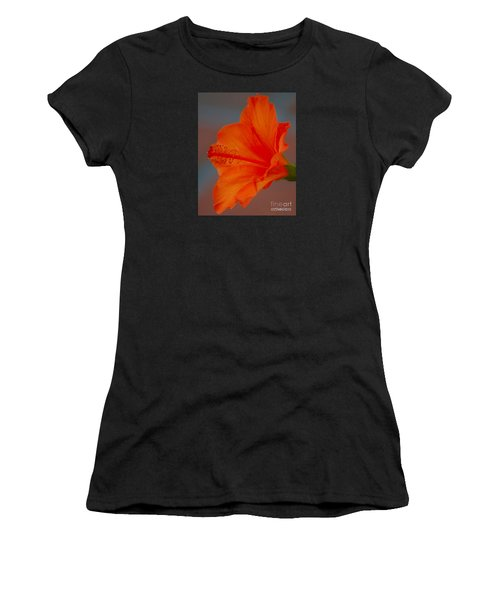 Hot Orange Hibiscus Women's T-Shirt