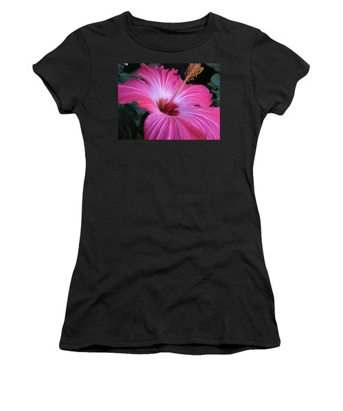 Hibiscus Photograph Women's T-Shirt (Athletic Fit)