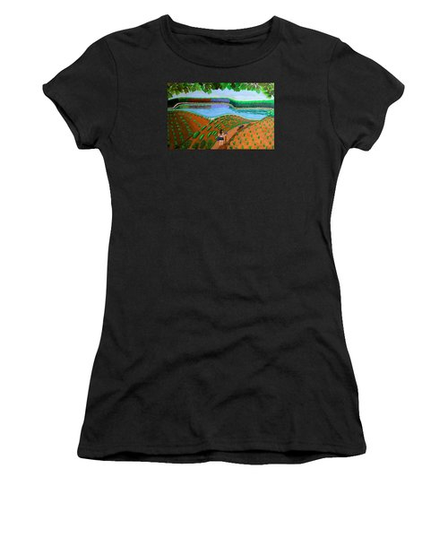 Hidden Water From Above Women's T-Shirt (Athletic Fit)