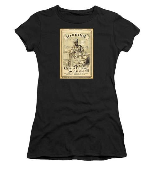 Women's T-Shirt featuring the digital art Higgins German Laundry Soap by ReInVintaged