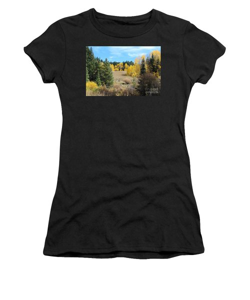 High Country Autumn Colors In Colorado Women's T-Shirt (Athletic Fit)
