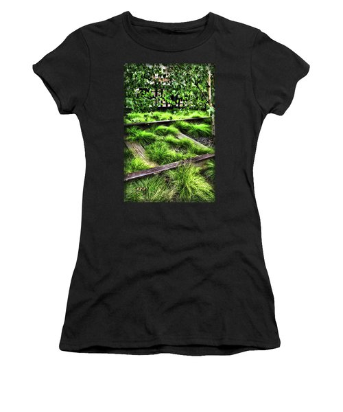 High Line Nyc Railroad Tracks Women's T-Shirt (Athletic Fit)