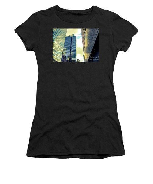 High Rise Reflections Nyc Women's T-Shirt (Athletic Fit)