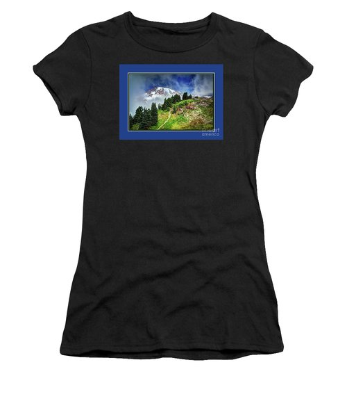 Hiking Rainier Women's T-Shirt (Athletic Fit)