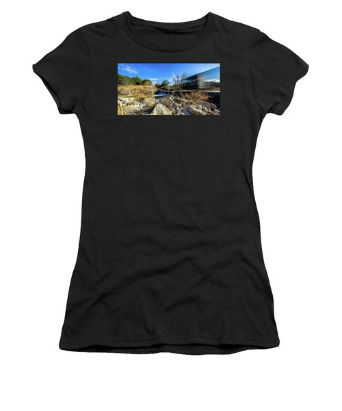 Hill Country Back Road Long Exposure #2 Women's T-Shirt (Athletic Fit)