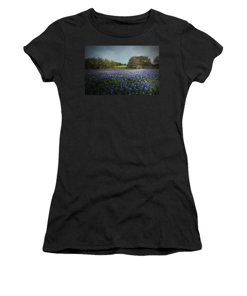Hill Country Ranch Women's T-Shirt (Junior Cut) by Susan Rovira