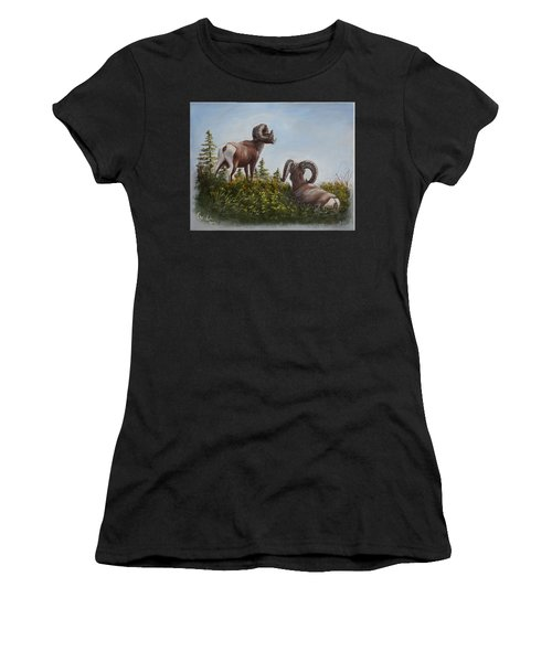 Hill Top View Women's T-Shirt (Athletic Fit)