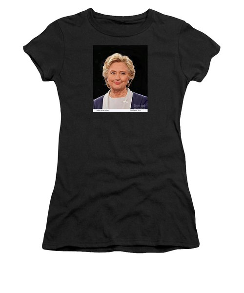 Hillary At The Debate Women's T-Shirt (Athletic Fit)