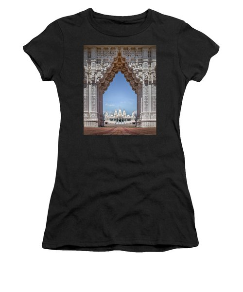 Women's T-Shirt featuring the photograph Hindu Architecture by James Woody