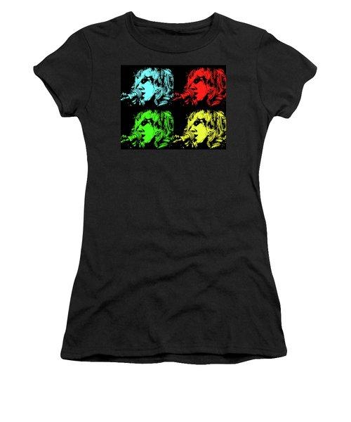 Hippie Memories Pop Art Women's T-Shirt (Athletic Fit)