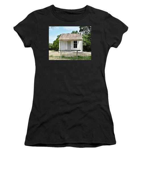 Women's T-Shirt (Junior Cut) featuring the photograph Historic Clint's Cabin by Ray Shrewsberry