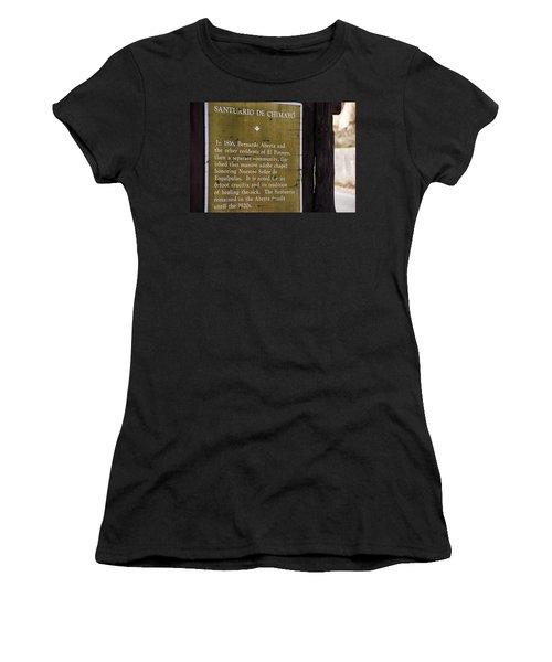 Historic Marker For The Santuario Women's T-Shirt