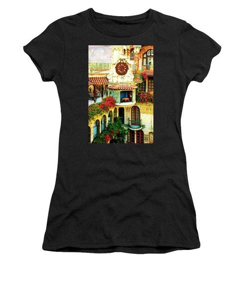 Historic Mission Inn Clock Women's T-Shirt (Athletic Fit)