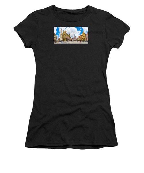Historic Townsquare Of Rothenburg Ob Der Tauber, Franconia, Bava Women's T-Shirt (Athletic Fit)