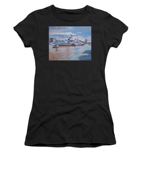 Hms Belfast Shows Off In The Sun Women's T-Shirt