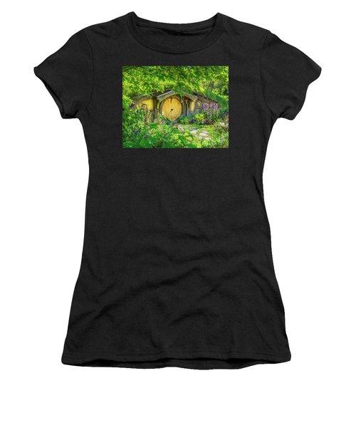 Hobbit Cottage Women's T-Shirt (Athletic Fit)