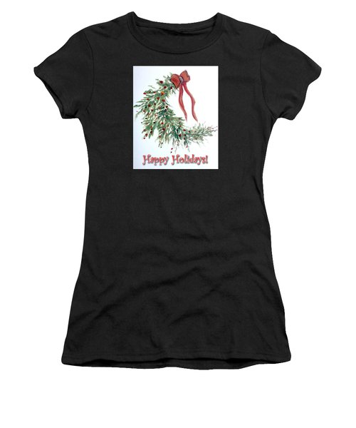 Holidays Card - 4 Women's T-Shirt (Athletic Fit)