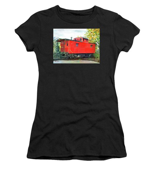 Holland Michigan Caboose Women's T-Shirt (Athletic Fit)